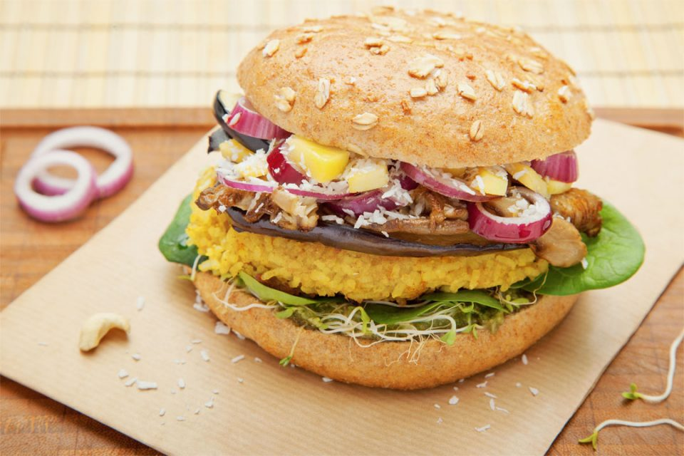 Happy Buddha Asia Burger