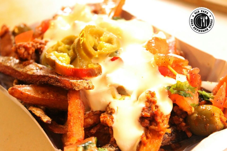 picadillo cheese fries